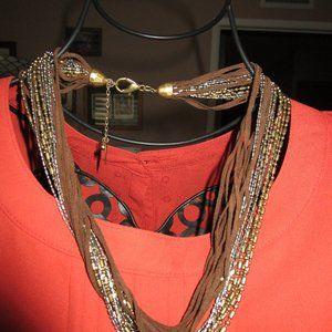 Coldwater Creek Necklace, Multi-strand, Choker